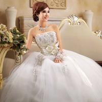 Good quality Love wedding quality rhinestone flower bride wedding sweet princess wedding dress Aiweiyi