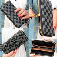 new fashion lady women long Retro purse quality zipper wallet mobile phone bag free shipping handbag card holder gift