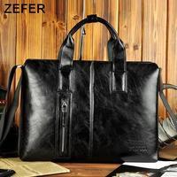 NEW 2014 ZEFER design,Laptop bag,men messenger bags,genuine leather bags,mens briefcase,vintage handbag,bags for men,2 color