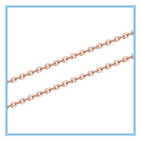 (10 pcs / lot) Wholesale Womens Girls Fashion Jewelry Lots Necklace Rose Gold Plated 316L Stainless Steel Link Chain Necklaces