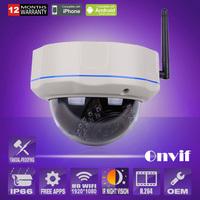 P2P IP Camera Wireless Infrared Night Vision 2MP1080P HD Dome WIFI Cam Onvif H.264 Indoor use Home Surveillance CCTV Camera