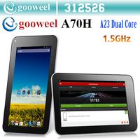 Gooweel A70H 7inch Bluetooth tablet pc Allwinner A23 Dual Core 1.5GHZ  android 4.2 512MB 4GB Dual camera WiFi  OTG BIG SALE