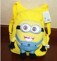 Despicable me milk minions plush toy doll ,Hot Sale/3 styles Despicable Me Minion Plush Backpack Child School Bag/Free Shipping