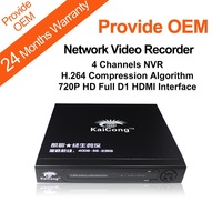 720P HD Network Video Recorder 4 Channels NVR H.264 Full D1 HDMI Oem Support Fast Delivery Free Iphone Android App  KaiCong 9304