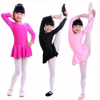 Девушка балета платье профессиональная балетная пачка классическая лайкра танца износа производительность латинский танец купальник с длинным рукавом 2015 новый
