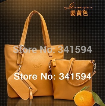 2014 new/women's PU leather handbags/vintage/fashion/messenger shoulder/totes Composite bags/wallets designers famous brand