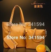 2014 new/women's PU leather handbags/vintage/fashion/messenger shoulder/totes Composite bags/wallets designers famous brand