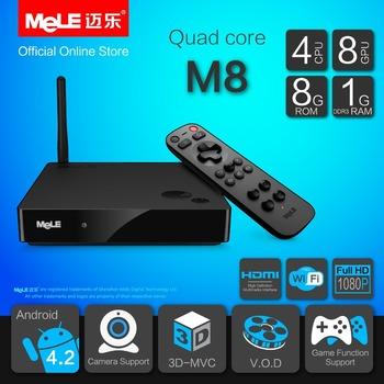 Quad Core Mini PC Android TV Box Android 4.2 MeLE M8 Cortex A7 1GB RAM 8GB ROM 4K Video 1080P HDMI WiFi Media Player