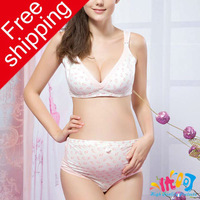 9086 Free shipping CPAM [High quality protects] cottom women maternity brassiere and shorts for nursing