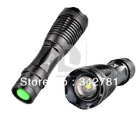 UltraFire 1800 Lm CREE XM-L T6 Focus Adjustable Zoom Torch Led Flashlight Torch light with Free Shipping