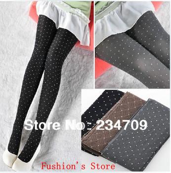 Free shipping,hot sell! fashion!black,Super sexy color tights,wholesale panty hose,dot dark grain 80 d velvet tights,1 pcs/lot