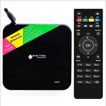 CS968 Quad Core  TV Box RK3188 Android 4.4 kikat Bluetooth XBMC Miracast RJ45 Media Player Built in 2.0MP Camera Mic 2GB/8GB