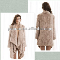 100% Guaranteed Knitted Sheared Real Rabbit Fur Jacket Factory Retail Free Shipping 2014-2015