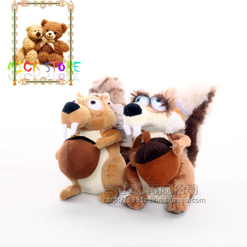 "New Scrat Squirrel Stuffed Plush Toy 7"" 1 Ice Age 3#6254(China (Mainland))"