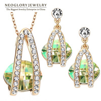 Neoglory Jewelery Accessories MADE WITH SWAROVSKI ELEMENTS Crystal Bridal Jewelry Sets Necklace & Earrings Wedding Bijoux Gifts