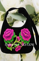 Special embroidery restoring ancient ways/woman single shoulder bag/rose embroidered canvas handbags
