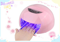 12W 100V-240V LED Nail UV Curing Lamps Nail Dryer 3 Timer Pink Energy-saving