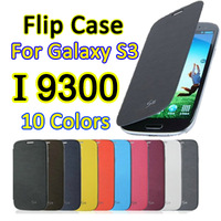 Leather Flip Case For Samsung Galaxy S3 I9300 SIII 9300 Phone Battery Housing Back Cover Dormancy Function With Retail box