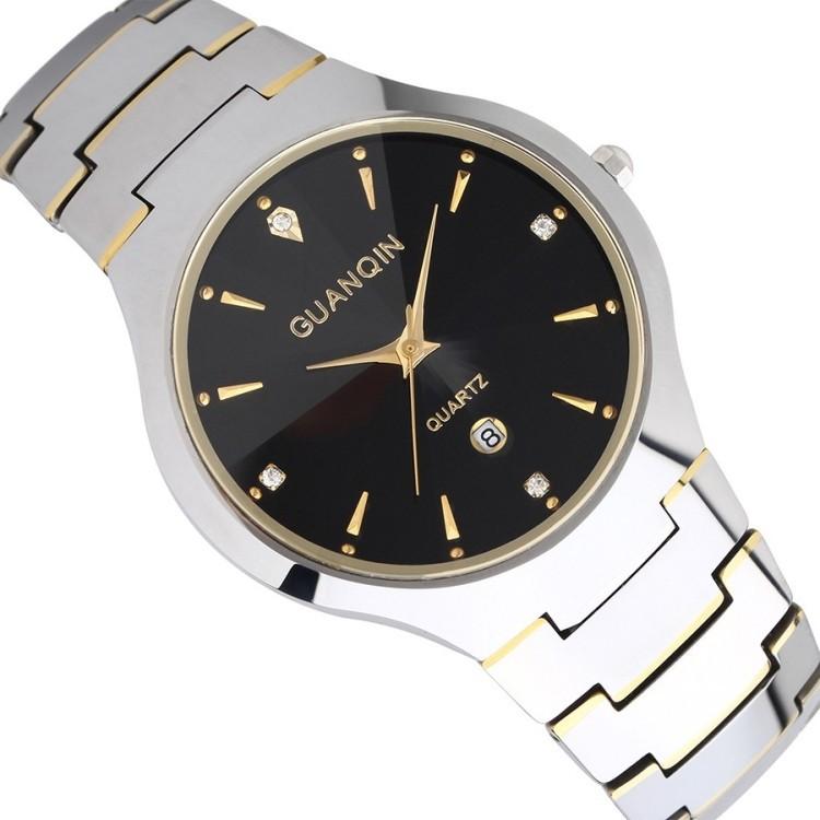 Di marca di lusso nome lovers' casual acciaio al tungsteno cinturino donne uomini doni abito orologi strass orologi da polso al quarzo