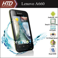 Free European Adapter!!!Lenovo A660 3-proof 4.0 Inch Dual Core 1GHz Dual SIM Android 4.0 Smart Phone With 32G SD Card Option