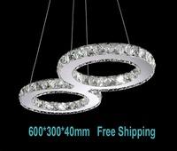 Free shipping modern crystal chandelier large size 60*30cm 3years warranty LED pendant lamp for  home livingroom bedroom Novelty