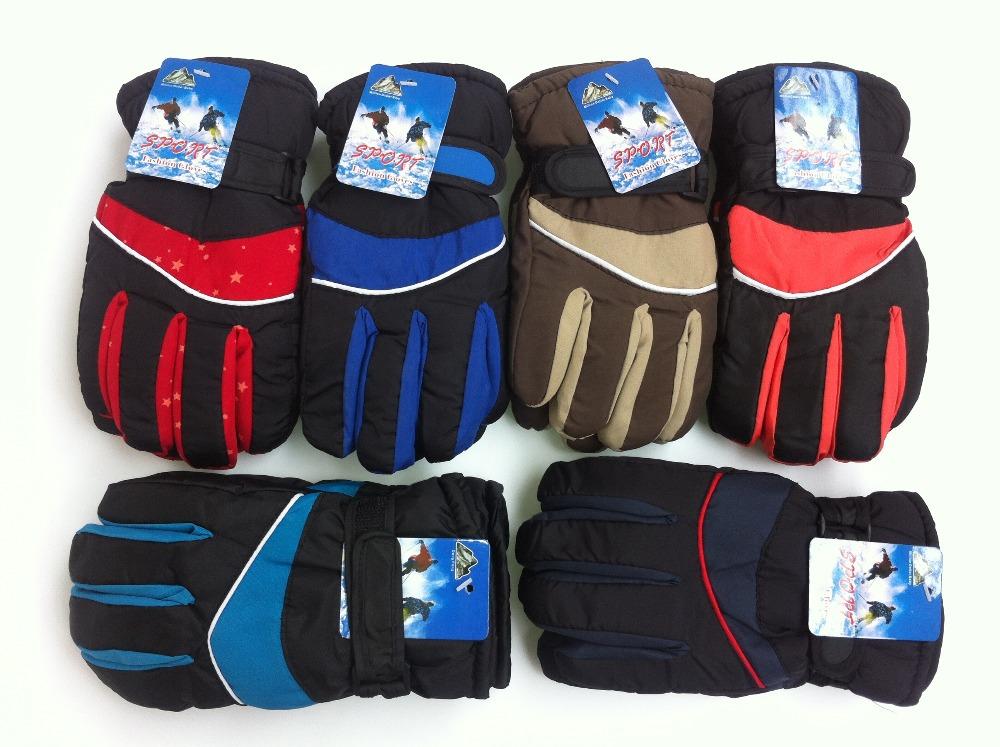 retail winter warm kids/children gloves boys&girls sprot gloves Mittens five-finger gloves Ski gloves(5-9years-old)(China (Mainland))