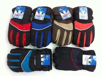 retail winter warm kids/children gloves boys&girls sprot gloves Mittens five-finger gloves Ski gloves(5-9years-old)
