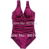 2015 Fashion One Piece Swimsuit Women Sexy Swimwear Ruffle Monokinis Conservative Bathing Suits 1303