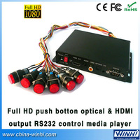 Full HD Push Button in store Optical&HDMI output RS232 Control video advertising Media player Guaranteed 100% Manufacturer