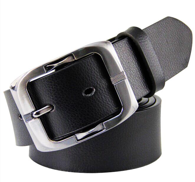 echtem leder marke gürtel zweite Schicht rindsleder cintos cinturon dornschließe schwarzen Business gürtel für männer kostenloser versand m32