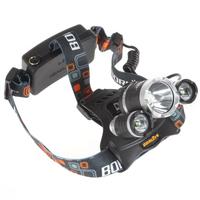 Boruit 5000LM JR-3000 3X CREE XML T6 LED Headlamp LED Headlight 4 Mode Head Lamp  for bicycle bike light outdoor Sport