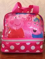 2014 new children's women peppa cute fashion tote waterproof lunch bags  handbag shopping bags for kids girls gifts