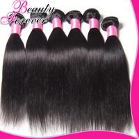 "Free Shipping Brazilian Virgin Hair Straight Extension  8""-30"" Beauty Forever Hair 3pcs Virgin Brazilian Straight Hair Weaves"