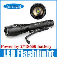 cree xml t6 flashlights led torch Zoomable 2000lumens self defense Flash light WLF05