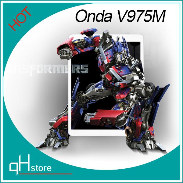 Onda V975m Bluetooth Amlogic M802 Quad Core 2.0GHz 9.7 Inch Retina Screen 2048*1536 64bit 2GB/32GB Android 4.3 Tablet PC(China (Mainland))