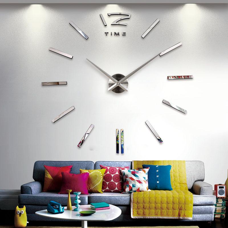 Creative Big DIY 3D Digital Mirror Sticker Wall Clock Modern Art Wall Clocks Watch Unique Gifts Home Decoration Freeshipping(China (Mainland))