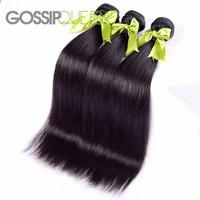 "queen hair products brazilian virgin hair straight 3pcs free shipping 8""-30""brazilian hair weave bundles brazilian straight hair"