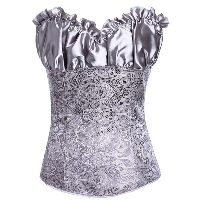 2014 Hot Sale Bodysuit Women Sexy Women Lace Tops Steel Bustier Lingerie Overbust Corset Dresses Wholesale Promotional discounts(China (Mainland))
