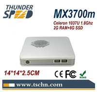Super Home Computer Mini PC Windows 7 OS Intel Celeron 1037u Dual Core 1.8Ghz HD2000 Graphics 4USB 2G RAM 8G SSD