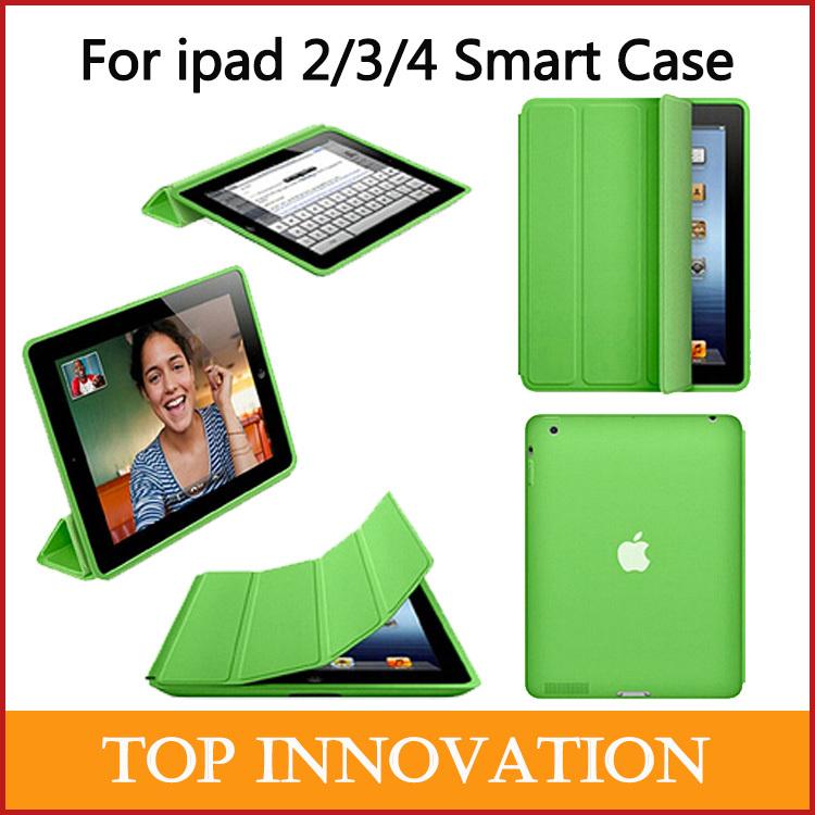 Per ipad 2 iPad 3 iPad 4 microfibra intelligente custodia originale 1:1 design tablet copertura per serie ipad imballaggio al dettaglio spedizione gratuita