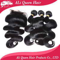 100% human malaysian hair with closure 3pcs 6a malaysian body wave with 4*4 closure free shipping