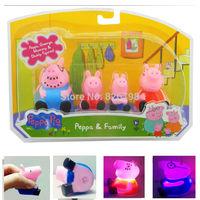 Peppa Pig Family Toys Set DADDY & MUMMY Pepa/ George Pig Family Toys Set Baby/ kids Gift 4pcs/set With Retail Box Free Shipping