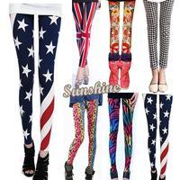 Fashion 2014 Women Leggings Multicolor Leopard Print Slim Skinny Sexy Leg Wear Pants free shipping SV001475 b003