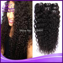 Brazilian Curly Virgin Hair 3Or4 Pieces/Lot 1B# Brazilian Virgin Hair Deep Wave Curly Rosa Hair Products Human Hair Extensions(China (Mainland))
