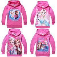 Frozen Children Girls Hoodies Sweatshirts  for Boys Wear Hoody New brand Cartoon Clothing Kids Long Sleeve 100% Cotton