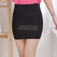 Cheapest Women A Line Female Mini Skirt Seamless Stretch Tight Short Fitted Bodycon Clubwear Solid Color SV18 SV005552