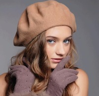 10pcs/Lot Quality Women Plain Wool Berets Cap Classic Ladies Spring Blank Felt Berets Hat Womens Fall Wool Caps Lady Trilby Hats