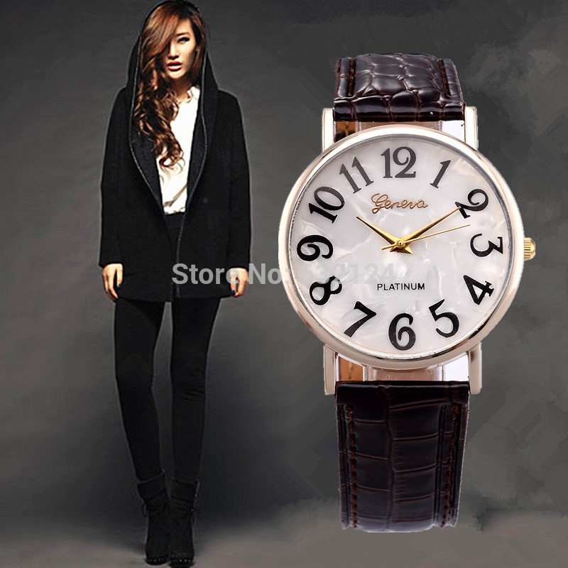 2015 Best selling Women Watches Fashion Quartz Watch Casual Leather Colorful Female Girls Ladies Round Dial Wristwatch Wholesale(China (Mainland))