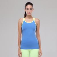 Newest ladies fashion fitness tops wholesale yoga tank top/ womens yoga tank top
