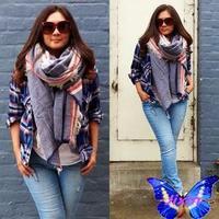 2014 New Women Winter Warm Scarves Imitation Pashmina Tassels Scarf Shawls Bufandas Manta 200 * 80 CM